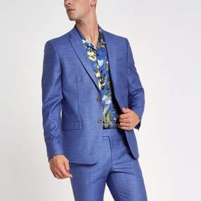 River Island Mens Purple skinny fit suit jacket