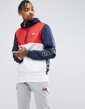 Ellesse Overhead Jacket With Sleeve Logo In Navy