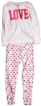 Carter's Girl L/S 'Love - Top Hearts allover Bottoms' 2-Piece PJ Set White/Pink