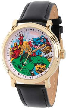 Marvel Comics Mens Black Strap Watch-Wma000052