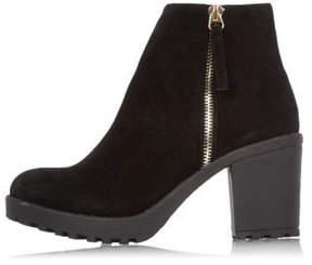 River Island Womens Black block heel ankle boots