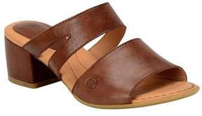 b.ø.c. Womens Makati Leather Open Toe Casual Mule Sandals.