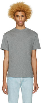 Alexander Wang Grey High Neck T-Shirt