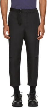 Oamc SSENSE Exclusive Black Cropped Troop Trousers