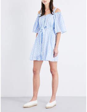 Claudie Pierlot Rizzo paisley-print cold shoulder cotton dress