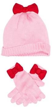 Kate Spade bow hat & gloves set (Little Girls & Big Girls)