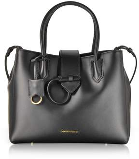 Emporio Armani Smooth Leather Tote Bag