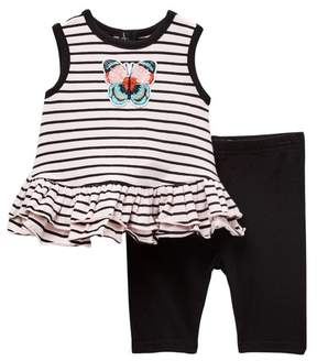 Butter Shoes Pastourelle by Pippa and Julie Stripe Top & Capri Leggings Set (Baby Girls)