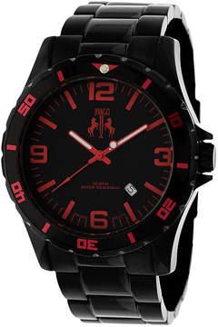 Jivago Ultimate Mens Black Stainless Steel Bracelet Watch