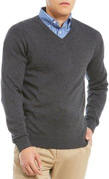 Daniel Cremieux Signature Solid Supima V-Neck Sweater
