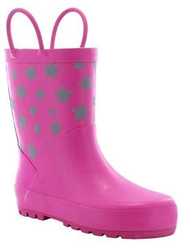 Western Chief Toddler Girl Twinkle Stars Reflective Matte Rain Boot Pink