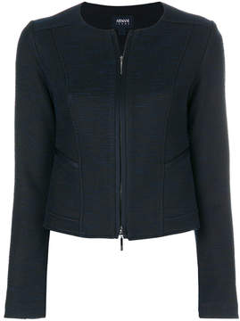Armani Jeans zipped fitted jacket