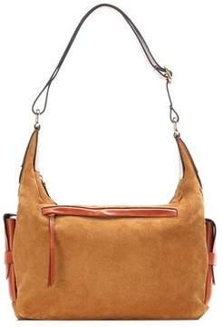 Isabel Marant Corte Day suede and leather shoulder bag