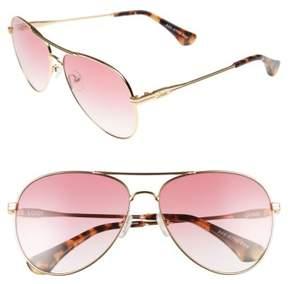Sonix Women's Lodi 62Mm Mirrored Aviator Sunglasses - Rouge/ Gold