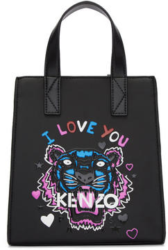 Kenzo Black Limited Edition Mini Tiger x I Love You Tote