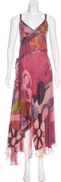 Christian Lacroix Printed Silk Dress