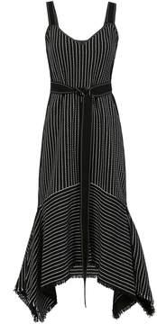 Derek Lam 10 Crosby Striped Crochet Cami Dress