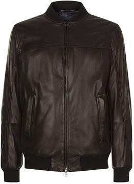 Paul & Shark Leather Bomber Jacket