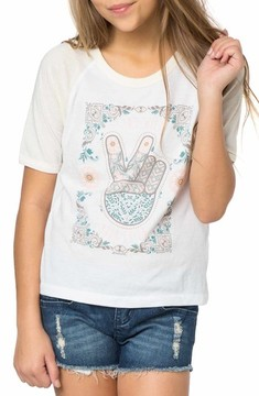 O'Neill Girl's Stay Wild Moon Child Graphic Print Tee