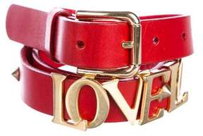 Dolce & Gabbana Love Leather Belt