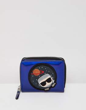 Karl Lagerfeld space zip wallet