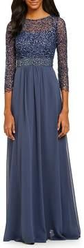 Decode 1.8 Bracelet Sleeve Beaded Gown