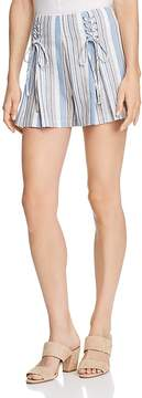 Aqua Lace-Up Striped Shorts - 100% Exclusive