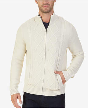 Nautica Men's Full-Zip Cable-Knit Cardigan