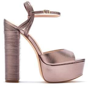 Rachel Zoe | Willow Metallic Leather Platform Sandals | 6.5 us | Gold