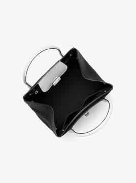 Michael Kors Bancroft Large Tri-Color Pebbled Leather Satchel - SAPPHIRE - STYLE