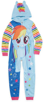 My Little Pony Long Sleeve One Piece Pajama-Big Kid Girls