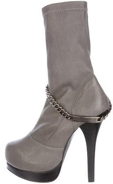 Thomas Wylde Leather Pointed-Toe Ankle Boots