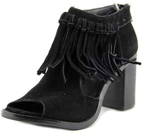 Sbicca Hickory Peep-toe Leather Bootie.