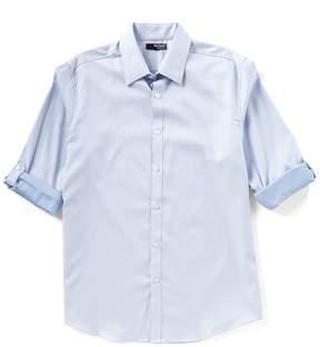 Murano Liquid Luxury Long-Sleeve Pointed Collar Arrows Shirt