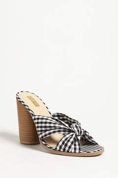 Forever 21 Qupid Gingham Twist-Front Mules