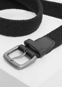 Mango Outlet Leather-appliqué elastic belt