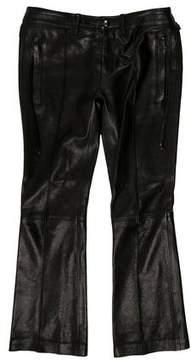 Diesel Black Gold Mid-Rise Leather Pants