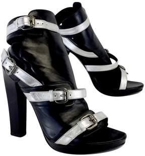 Karl Lagerfeld Black & Silver Leather Heels