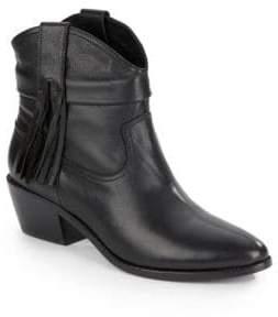 Joie Keaton Fringed Leather Booties