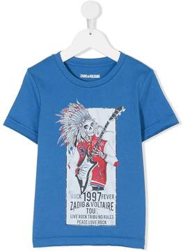 Zadig & Voltaire Kids punk skeleton print T-shirt