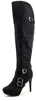 XOXO Nicki Women Black Knee High Boot.