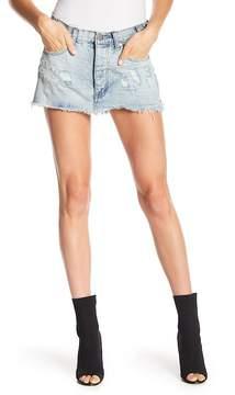 One Teaspoon Junkyard Relaxed Denim Mini Skirt