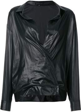 Barbara Bui long-sleeve fitted wrap blouse