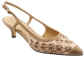 Trotters Women's 'Kimberly' Woven Leather Slingback Pump