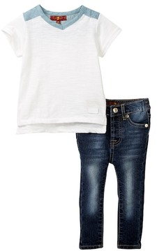 7 For All Mankind Tunic & Skinny Jean 2-Piece Set (Baby Girls)