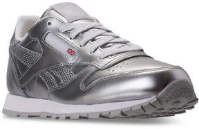 Reebok Girls' Classic Leather Metallic Casual Sneakers from Finish Line