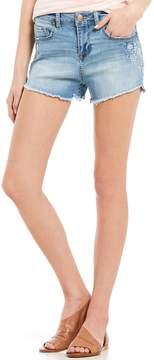 Celebrity Pink Embroidered Cut-Off Denim Shorts