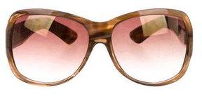 Saint Laurent Reflective Marbled Sunglasses
