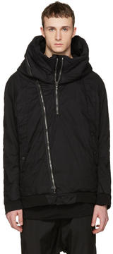 Julius Black Seamed Hooded Jacket