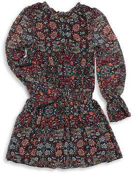 Ella Moss Girl's Deb Floral Chiffon Pleated Dress